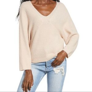 Leith Cozy V-neck Batwing Sleeve Sweater